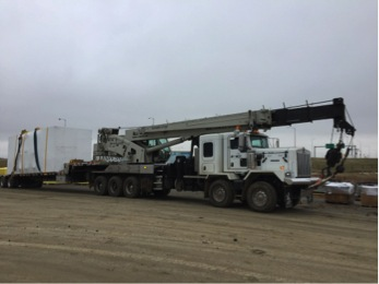 all west truck with crane